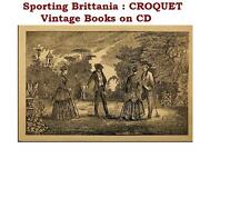 Croquet Roquet Collection Vintage Books on CD
