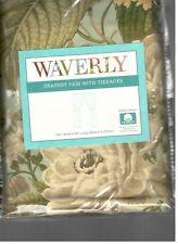 Waverly Garden Glory Mist Floral Rod Pocket Drapes Drapery Green Cream New