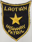 Wartime USAF Laotian Highway Patrol Patch, Japanese Machine Embroidered (931)