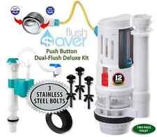 FlushSaver Push Button Dual-Flush  Kit | Fill Valve | 3 Stainless Bolts | Gasket