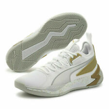 Puma Basketball Uproar Hybrid Court Core White Metallic Silver Men 192775-09