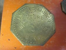 WEST UNION MINNESOTA MN GOOD FOR 25c IN TRADE TOKEN EMMELS LIQUOR BAR ORIGINAL