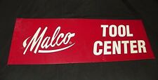 """Vintage Malco Tool Center Red Sign Plastic 24"""" X 8"""" Man Cave Garage"""