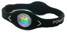 BLACK Power Balance Energy Health Band Bracelet- Wrist Size Small Medium Large