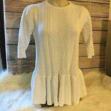 ANTHROPOLOGIE NOMAD by Morgan Carper -  White Peplum Sweater Top
