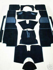 Triumph TR4A - TR6 Full Black Carpet Set - High Quality