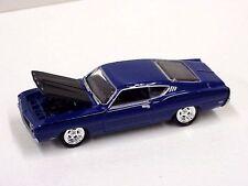 Johnny Lightning blank 1969 Ford Torino Talladega blue color in plastic box