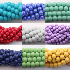 20/50Pcs Czech Opaque Coated Glass Pearl Round Beads Jewelry Finding 10mm