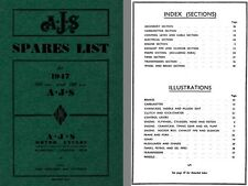 AJS Motor Cycles 1947 Spares List - AJS 1947 - 350 Model 16M and 500 Model 18 Ed