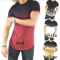 Mens Short Sleeve Shirt Slim Fit Casual Top Clothes Bodybuilding Muscle Tees USA