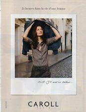 Publicité Advertising 2011  CAROLL  pret à porter collection mode accessoires .