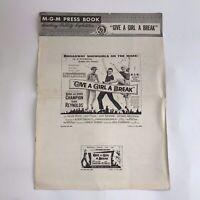 Vintage Movie Pressbook Give A Girl A Break Debbie Reynolds 1953 Marge Champion