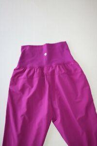 Lululemon High Waist Tranquil Crop Pants Size 4 - Regal Plum