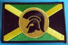 Skinhead Jamaican Trojan Flag Rectangular Green,Yellow & Black Embroidered Patch