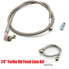 """1x Aluminum 90° Car Modified 24"""" Oil Feed Line Kit AN4 for T3 T4 Vehicle Turbo"""