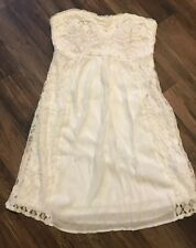 Vanity White And Cream Lace Strapless Dress Size Medium Nwt