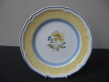 VILLEROY BOCH GERMANY TOSCANA YELLOW BAND SALAD PLATE NEW WITH TAG