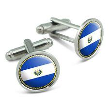 Cufflinks Cuff Links Set Flag of El Salvador Men's