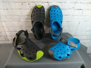 EUC lot of 2 men's CROCS rubber SWIFTWATER classic clogs - size 9 / BARELY WORN
