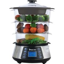 Magicchef Mcsfs12St Electric Food Steamer 3 Tier