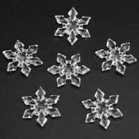 10Pcs Clear Crystal Hanging Snowflakes Christmas Xmas Tree Party Decorations