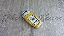 ORO LUCIDO CHIAVE Wrap Copertura Audi Smart Remote a1 a3 a4 a5 a6 a8 TT q3 5 q7