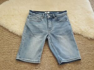 Just Jeans Size 28 Skinny Shorts Light Blue Knee Length Strech Denim Shorts