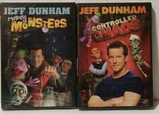 (2) DVDs Jeff Dunham Controlled Chaos 2011 Minding the Monsters 2012 widescreen