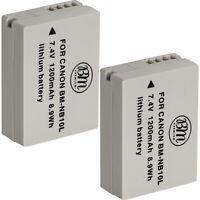 BM 2X NB-10L Batteries for Canon PowerShot G15 G16 G1 X G3-X SX40 SX50 SX60 HS