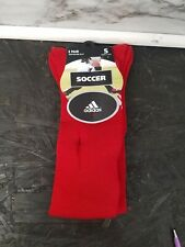 New Adidas SOCCER Socks Irregulars 2 Pairs Red Shoe Size S 13c-4Y New 2 Pack
