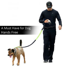 Adjustable Dog Pet Running Walking Haking Leash Hands Free Waist Reflective Belt