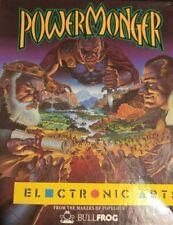 Powermonger (Bullfrog 1992) Commodore Amiga (Box, Manual, Game) good cond