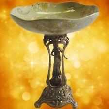 Obstschale Jugendstil Porzellan & Bronze Vintage Luxus Geschenk Weihnachten