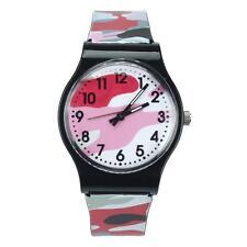 New Camouflage Children Watch Quartz Wristwatch For Girls Boy Red