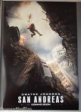 Cinema Poster: SAN ANDREAS 2014 (Advance One Sheet) Dwayne Johnson Kylie Minogue
