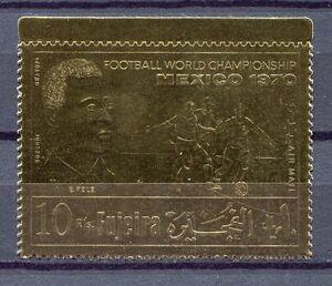 s4924) FUJEIRA 1970 MNH** WC Football - CM Calcio 1v GOLD