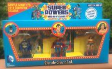 SDCC Exclusive Super Powers Micro Figures 3 Pack Batman Super Man Wonder Woman