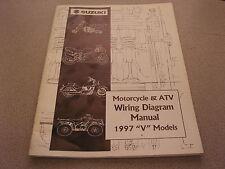 Suzuki Motorcycle & Atv Wiring Diagrams Manual 1997 V Models 99923-13971