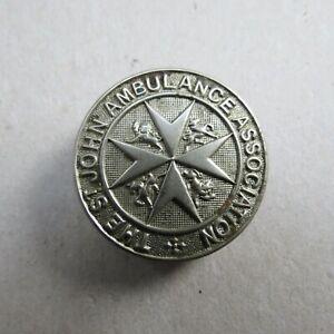 Vintage St John's Ambulance White Metal Circular Badge