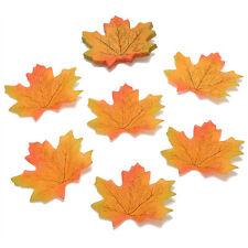 100PCS Artificial Fall Silk Leaves Cute Wedding Favor Autumn Maple Leaf Decor FT