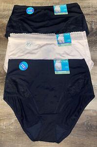 Vanity Fair ~ Women's Brief Underwear Panties 3-Pair Nylon Blend (A) ~ XL/8