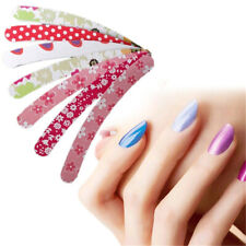 10Pcs Double Sided Nail Emery Boards Files Buffer Salon N2J7 J3Q5 U5J5