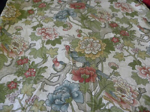 Pottery Barn Ingrid Floral Palampore Full/Queen Duvet Cover Bird Botanical Brown
