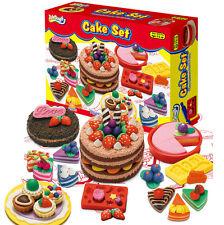 Play Dough Birthday Cake Mold Soft Clay Love Happy Birthday Mode Tools Kids Toy