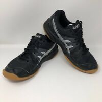 ASICS Unisex Kids Gel Upcourt GS Volleyball Shoes Black C413N Lace Up Low Top 6