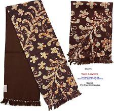 Unisex Premium Quality Unique Reversible Wool & Silk Long Scarf Batik 2175