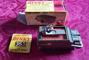 Diecast Dinky 353 Model Shado Mobile 2UFO Boxed