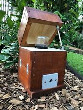 Stingless Mini OATH Bee Hive | Stained | Native Beehive With Honey Jar Design