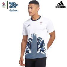 ADIDAS TEAM GB - RIO 2016 OLYMPICS - WHITE CLIMACHILL TEE-SHIRT - Size 44/46