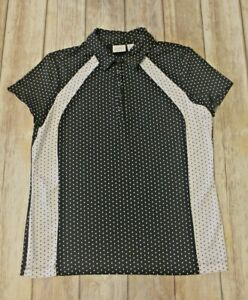 Zenergy Golf Chicos 1 S short sleeve polo polka dots black white faceted buttons